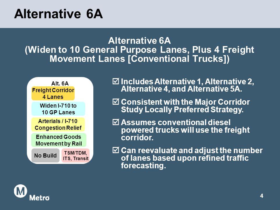 4 Alternative 6A (Widen to 10 General Purpose Lanes, Plus 4 Freight Movement Lanes [Conventional Trucks]) Alternative 6A Alt.