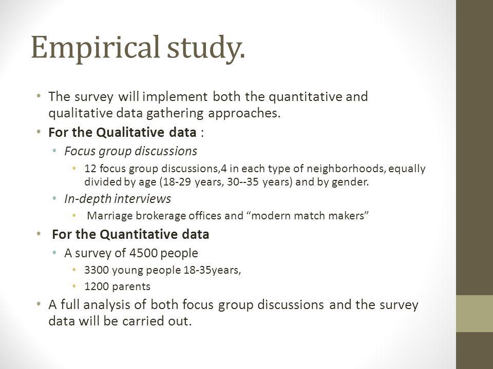 Empirical study.