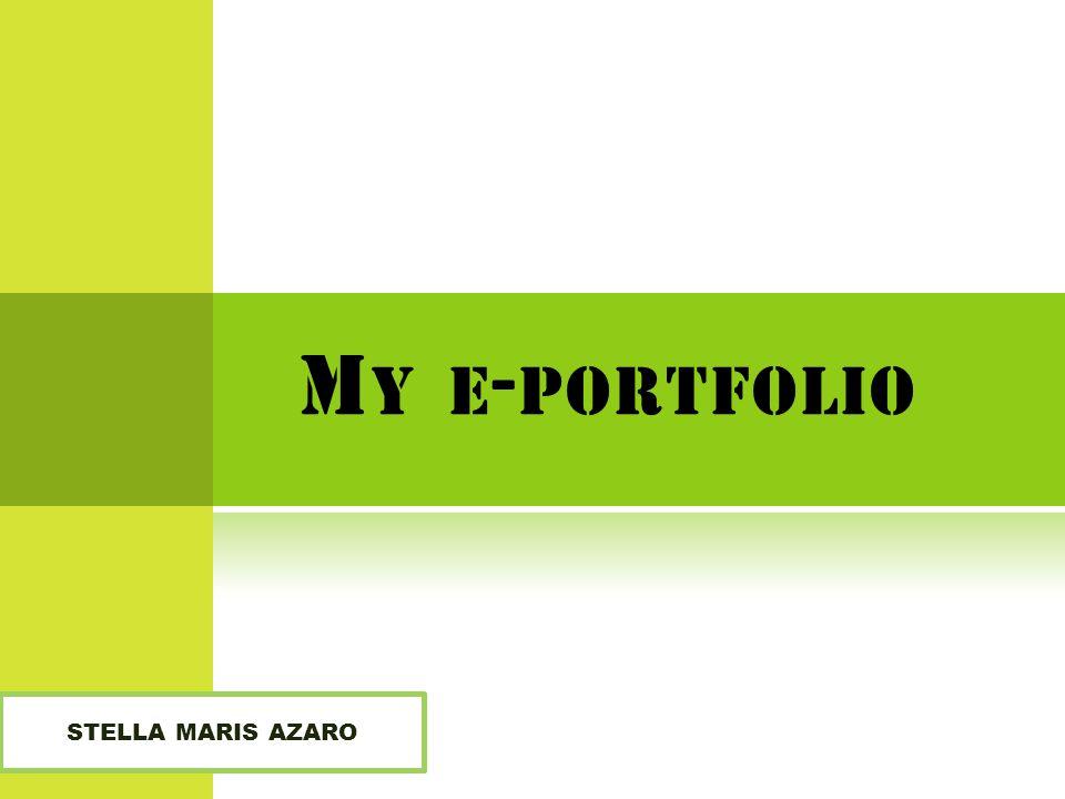 M Y E - PORTFOLIO STELLA MARIS AZARO