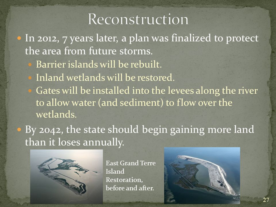 In 2012, 7 years later, a plan was finalized to protect the area from future storms.