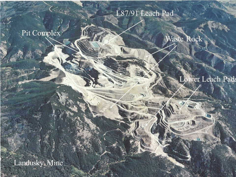 Pit Complex L87/91 Leach Pad Lower Leach Pads Waste Rock