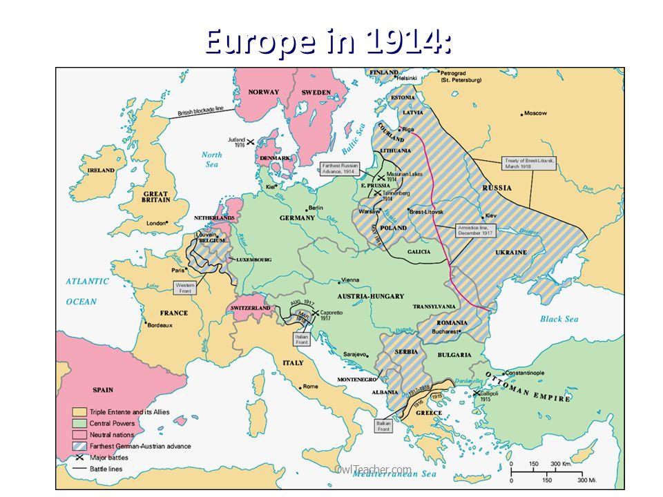 Europe in 1914: OwlTeacher.com