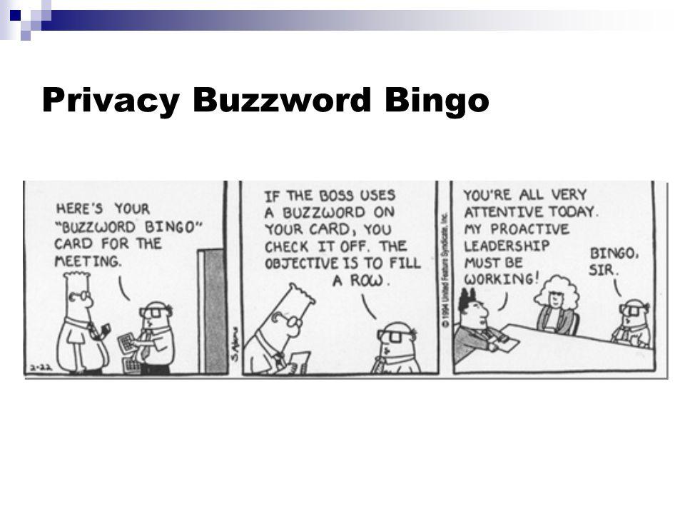 Privacy Buzzword Bingo