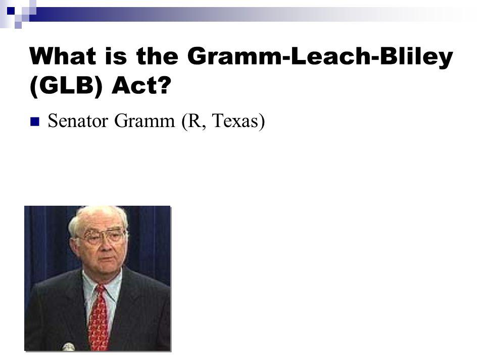 Senator Gramm (R, Texas)
