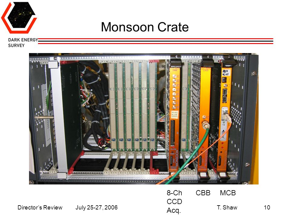 Director's Review July 25-27, 2006 T. Shaw10 Monsoon Crate MCBCBB8-Ch CCD Acq.