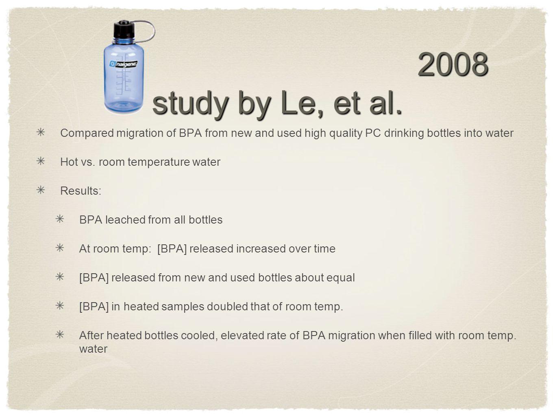 2008 study by Le, et al.