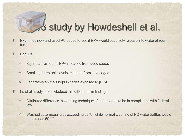2003 study by Howdeshell et al.