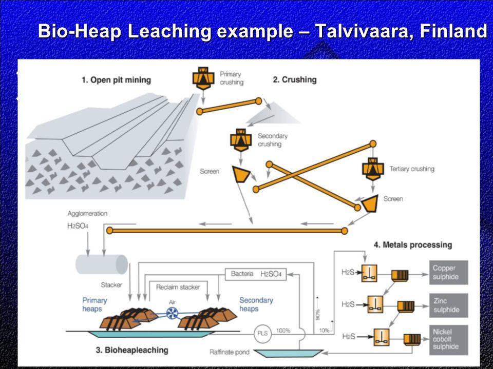 Bio-Heap Leaching example – Talvivaara, Finland Bio-Heap Leaching example – Talvivaara, Finland  Is  Takes