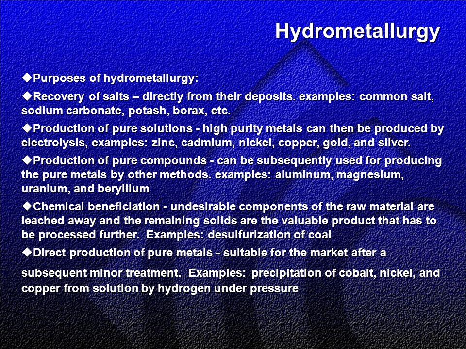 Pyrometallurgy  Multi-hearth calciner/roaster: