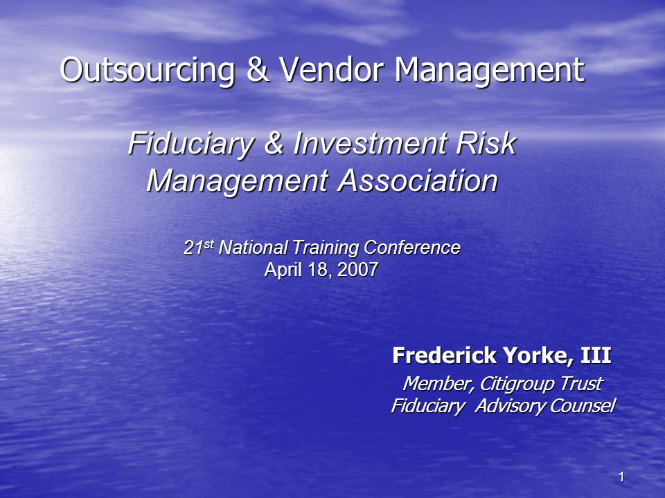 12 Most Recent Regulatory Developments Impacting Vendor Management OTS Thrift Bulletin TB 82 (03/18/2003) –Reminder of certain notification requirements –Notes a need for a termination provision –Rescinding of TB-46, Contracting for Data Processing Services or Systems (A comprehensive list of references is attached) OTS Thrift Bulletin TB 82a (09/01/2004) –Replaces TB 82, but not –Clarifies definition of significant contracts –Clarifies responsibilities of boards of directors and management –Modifies notification requirement when contracting with foreign service providers