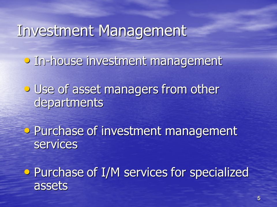 6 Tax and Other Servicing Purchasing tax servicing Purchasing tax servicing Use of tax experts from elsewhere in the institution Use of tax experts from elsewhere in the institution Other services: Other services: –Managing real property –Appraising real estate or closely-held companies –Managing other specialized assets Pricing of specialized services Pricing of specialized services