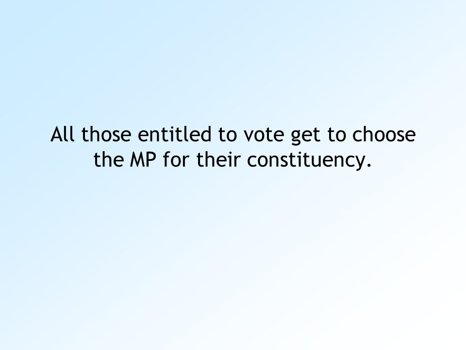 Below is an example of a ballot paper for a specific constituency in England.