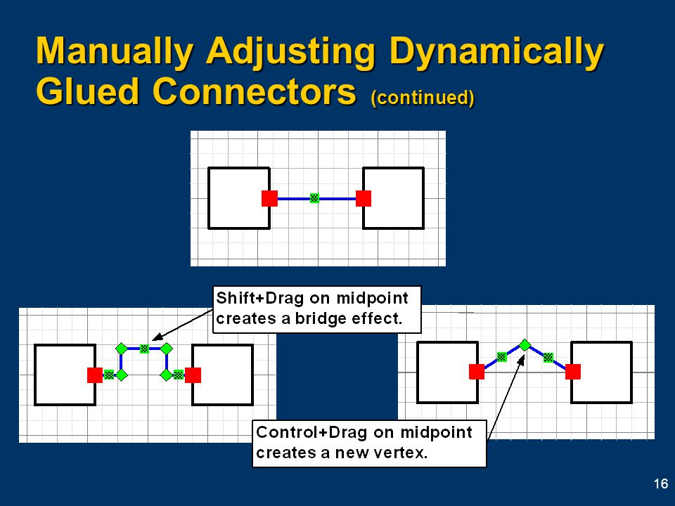 16 Manually Adjusting Dynamically Glued Connectors (continued)