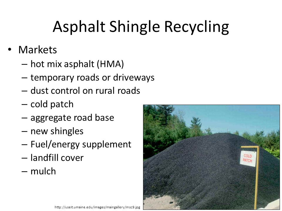 Post-Consumer Asphalt Roofing Shingle Processing Facility
