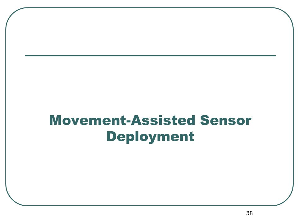 Movement-Assisted Sensor Deployment 38