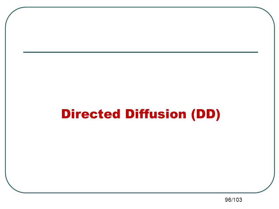 Directed Diffusion (DD) 96/103