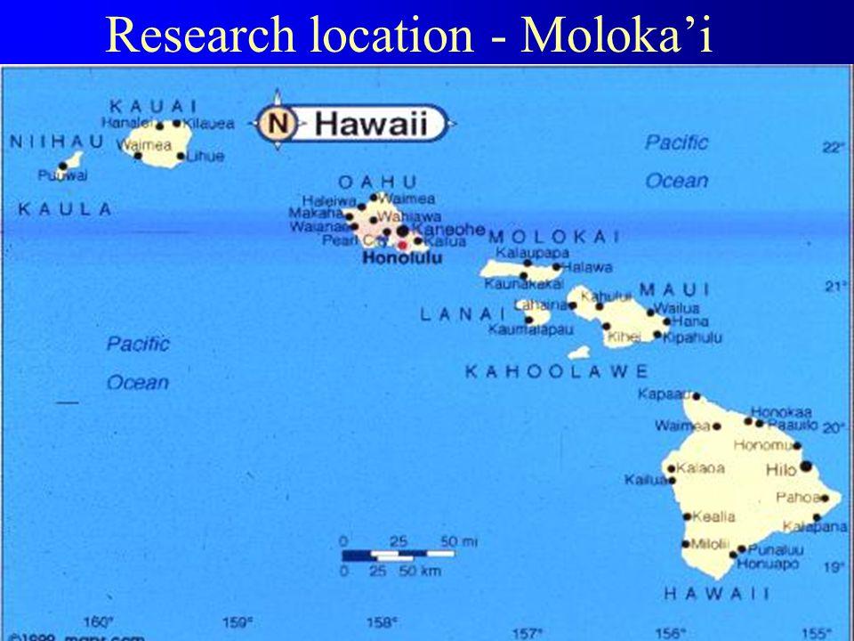 Research location - Moloka'i