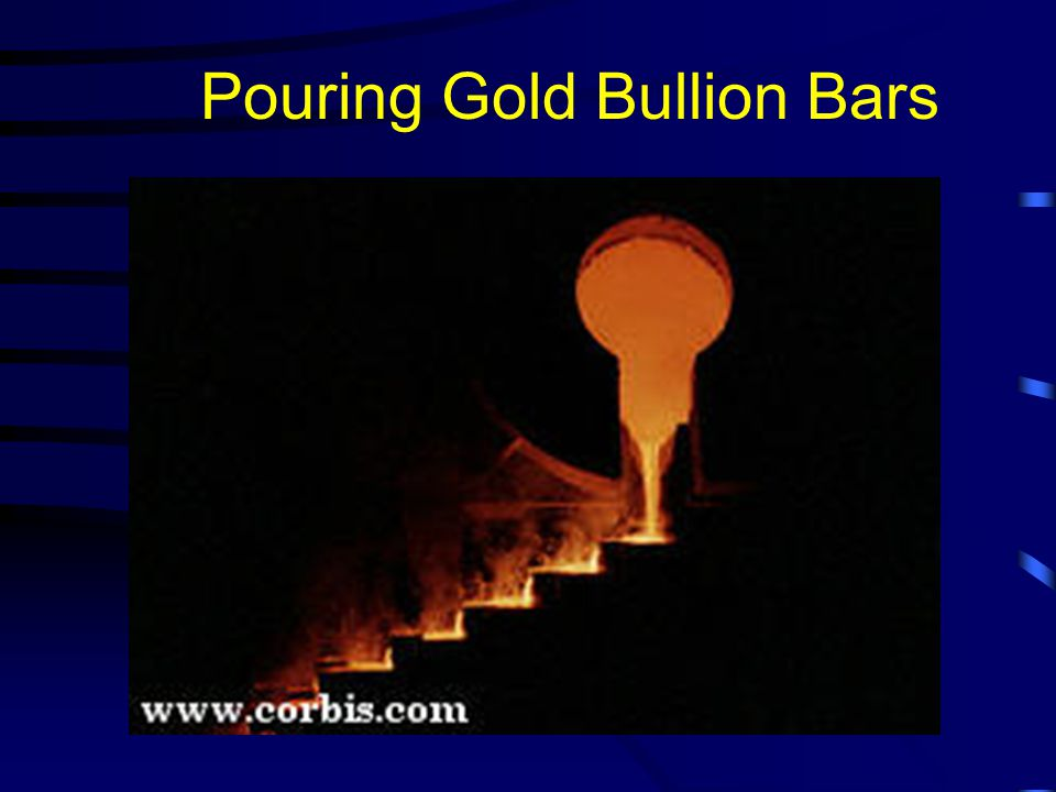 Pouring Gold Bullion Bars