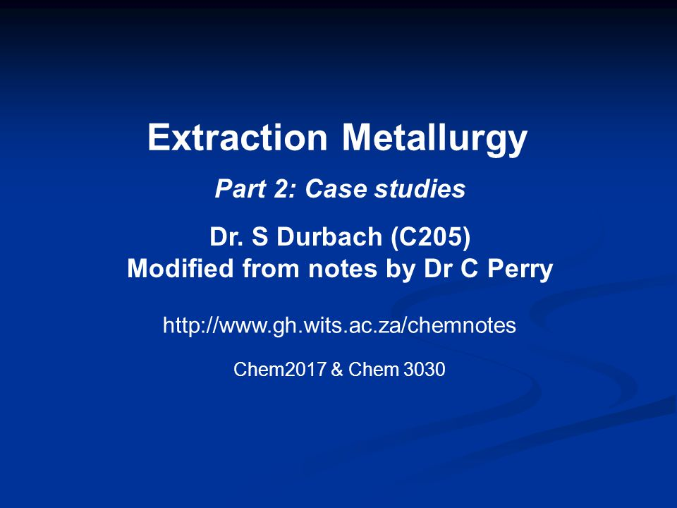 Pyrometallurgy of copper 2.Roasting (cont.) Objectives of roasting: 1)Remove part of the sulphur.