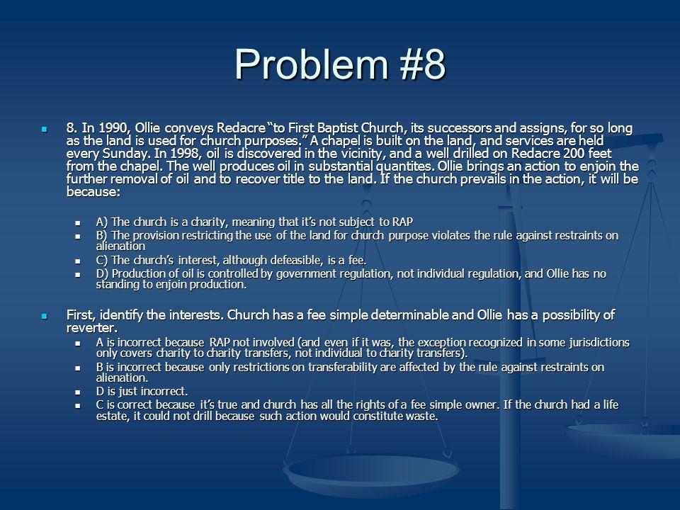 Problem #8 8.