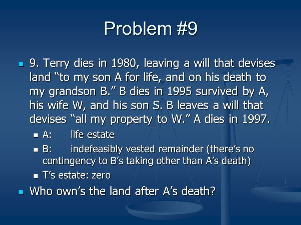 Problem #9 9.