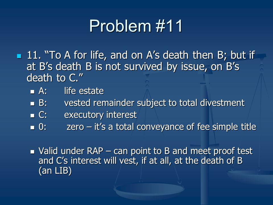 Problem #11 11.