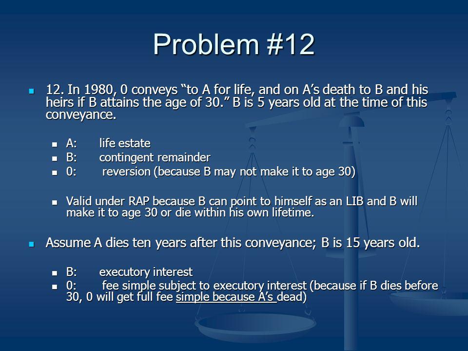 Problem #12 12.