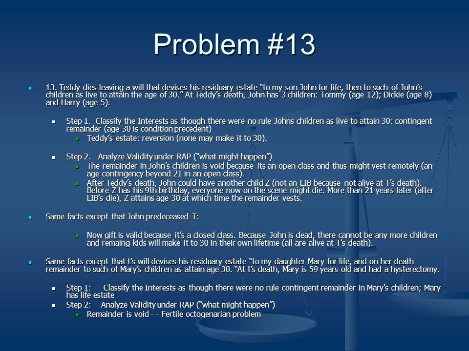 Problem #13 13.