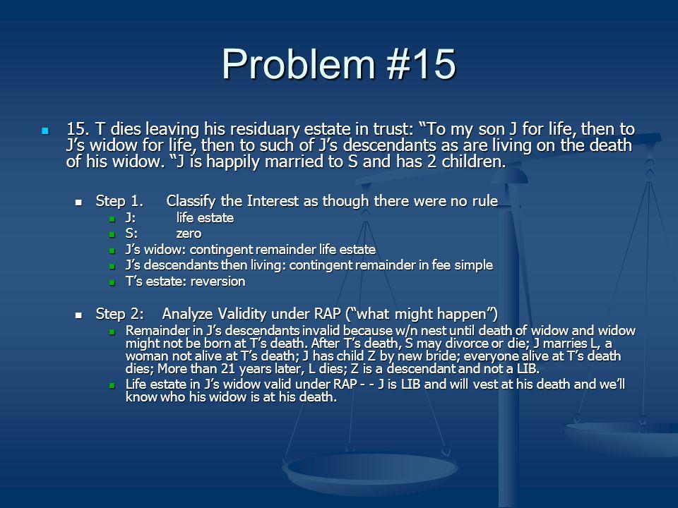 Problem #15 15.