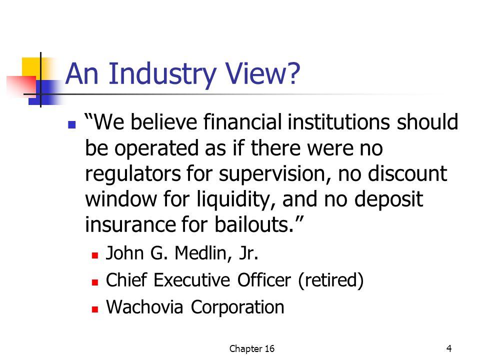 Chapter 165 What Do Bank Regulators and Deposit Insurers Do.