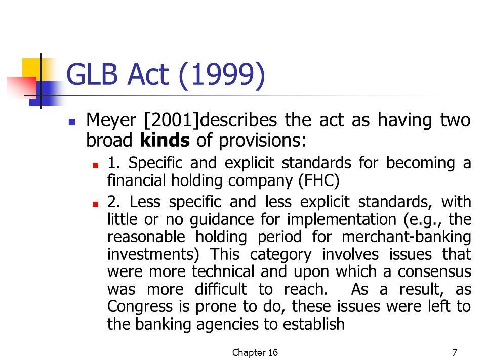 Chapter 168 Principal-Agent Relations and Regulatory Discipline Principal (monitors =>) Taxpayers Lawmakers Regulators Insured banks Agent Lawmakers Regulators Insured banks Borrowers