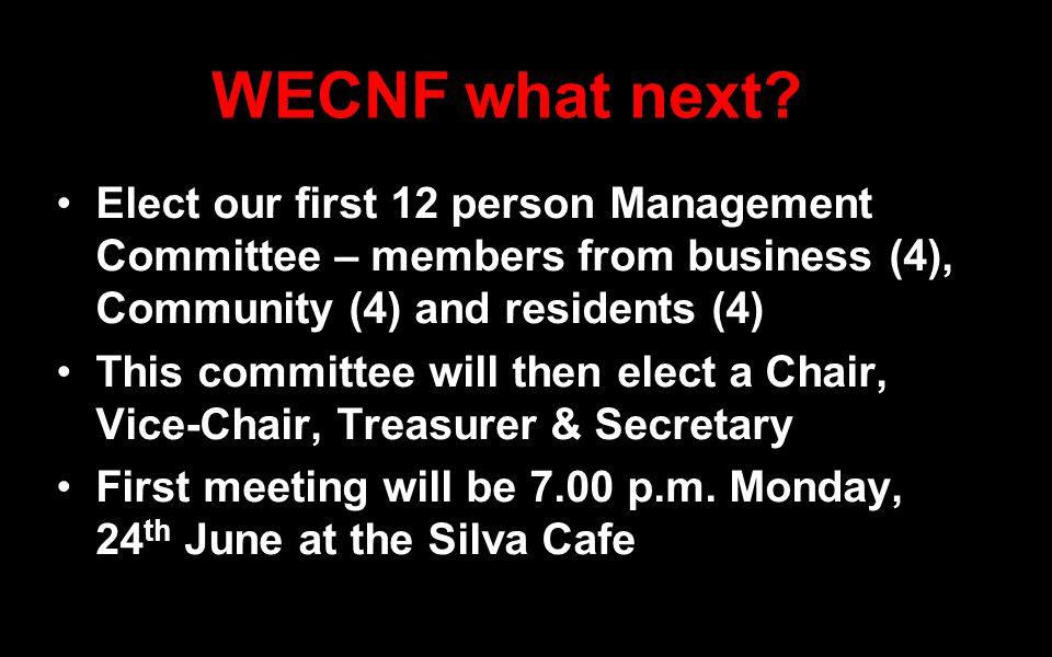 WECNF what next.