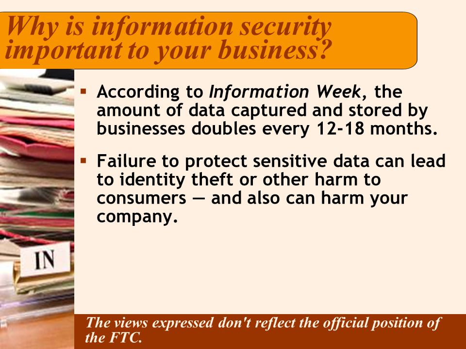 Why is information security important to your business.