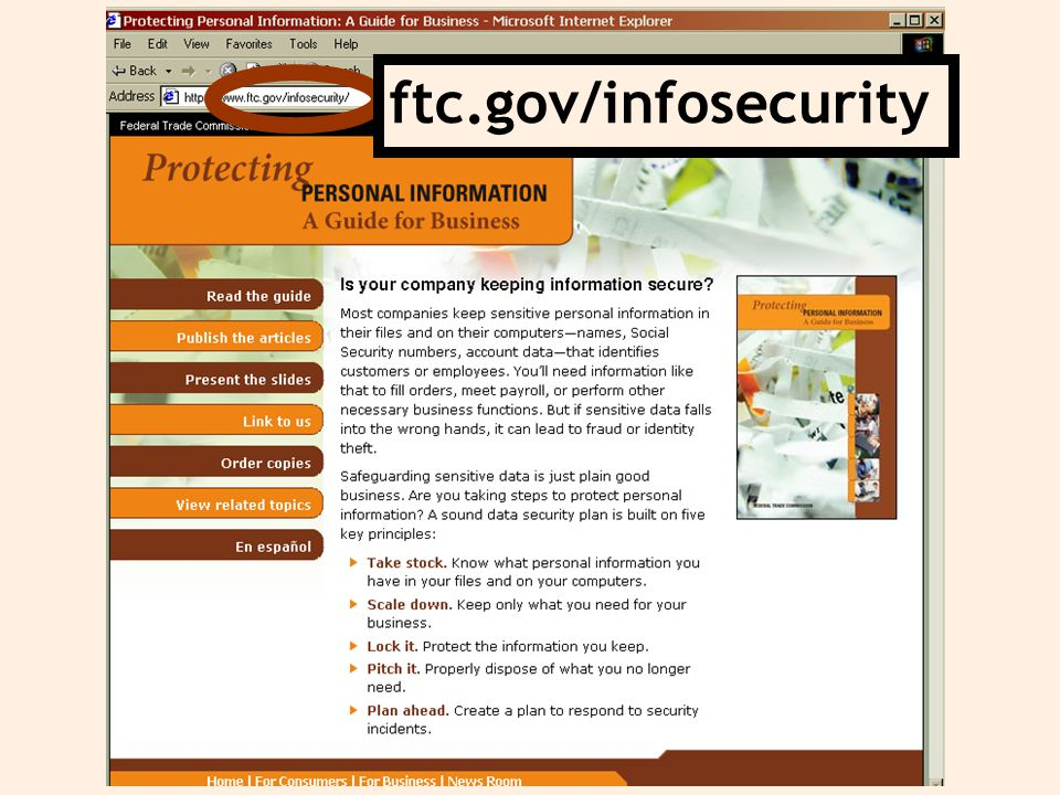 ftc.gov/infosecurity