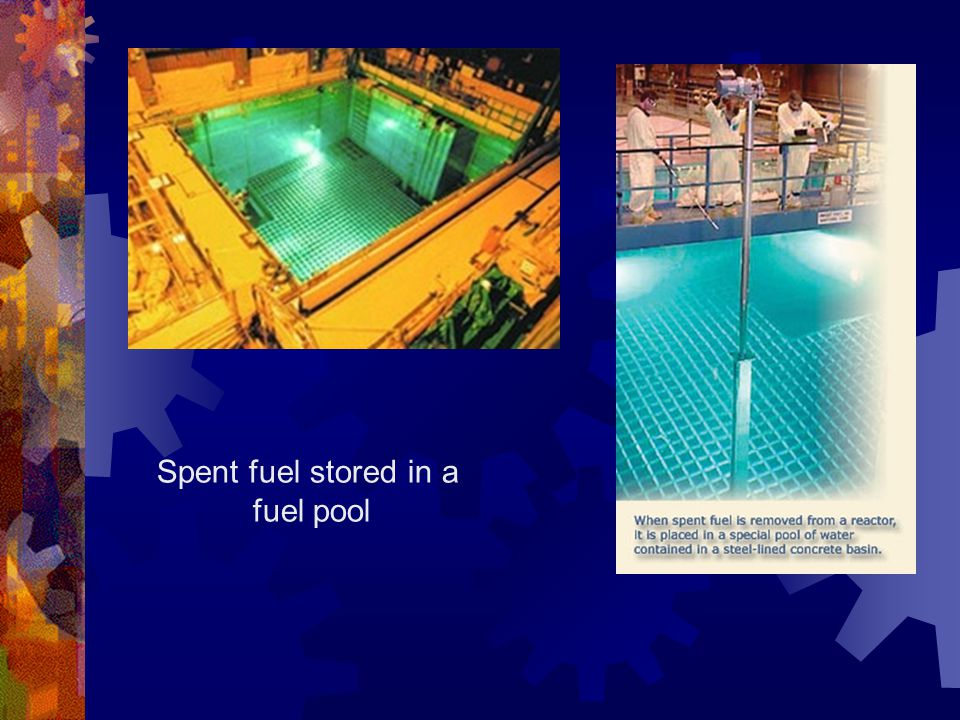 Spent fuel stored in a fuel pool