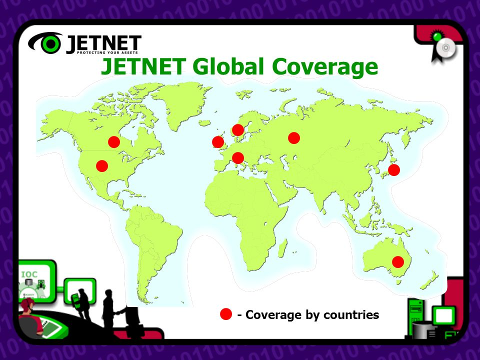 - Coverage by countries JETNET Global Coverage