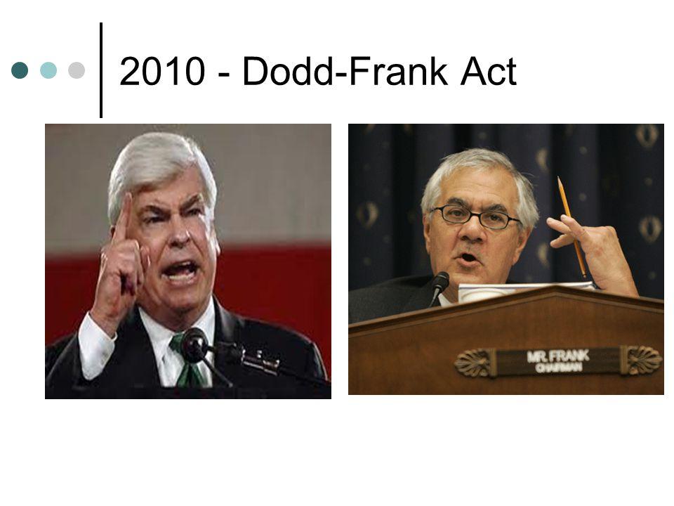 2010 - Dodd-Frank Act