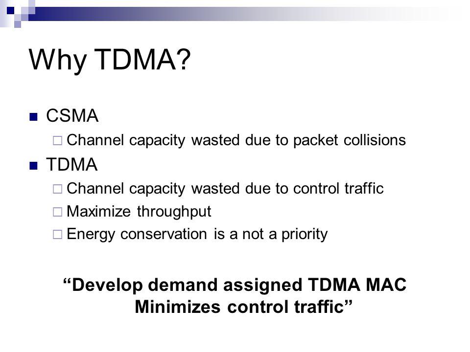 Why TDMA.