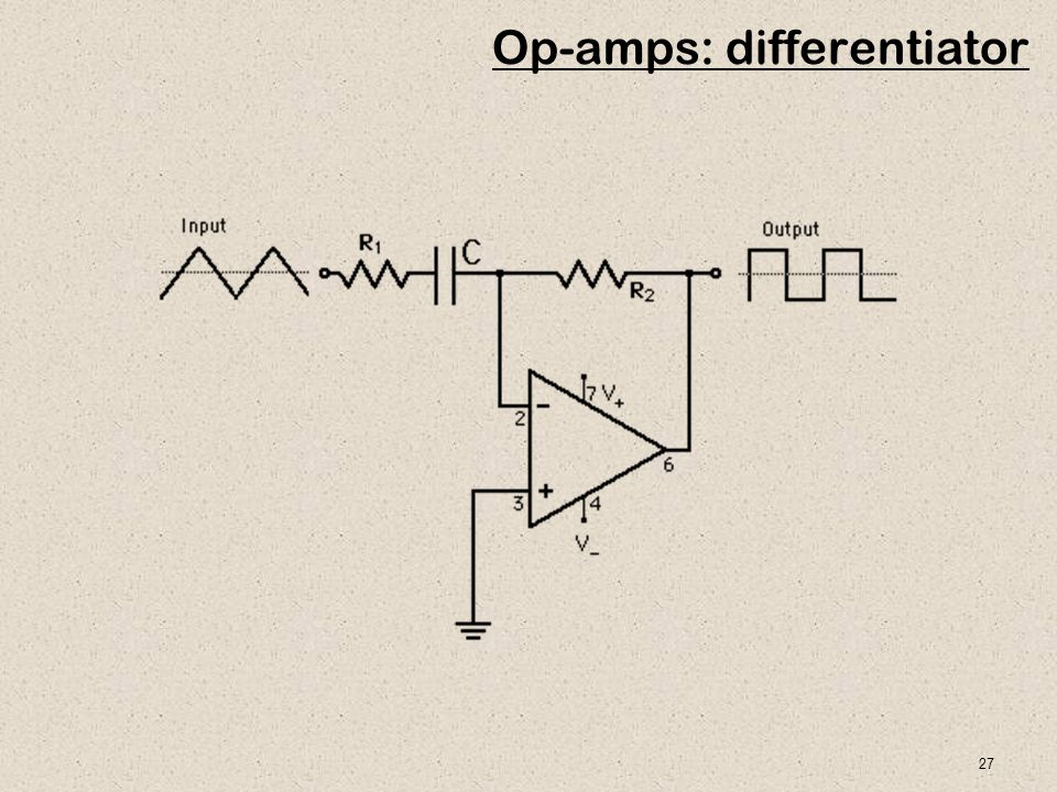 27 Op-amps: differentiator
