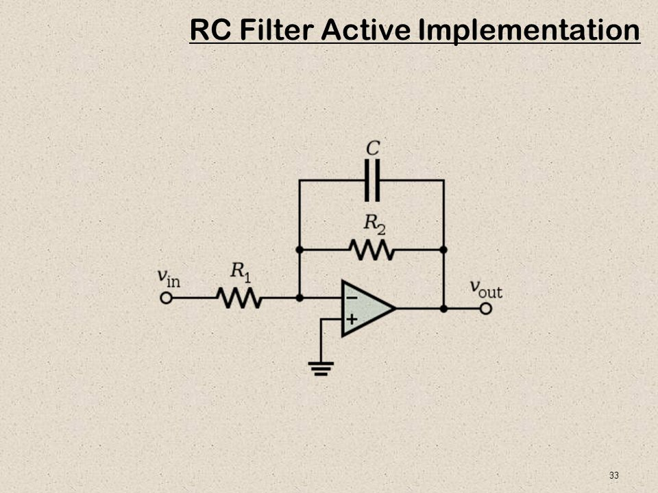 33 RC Filter Active Implementation