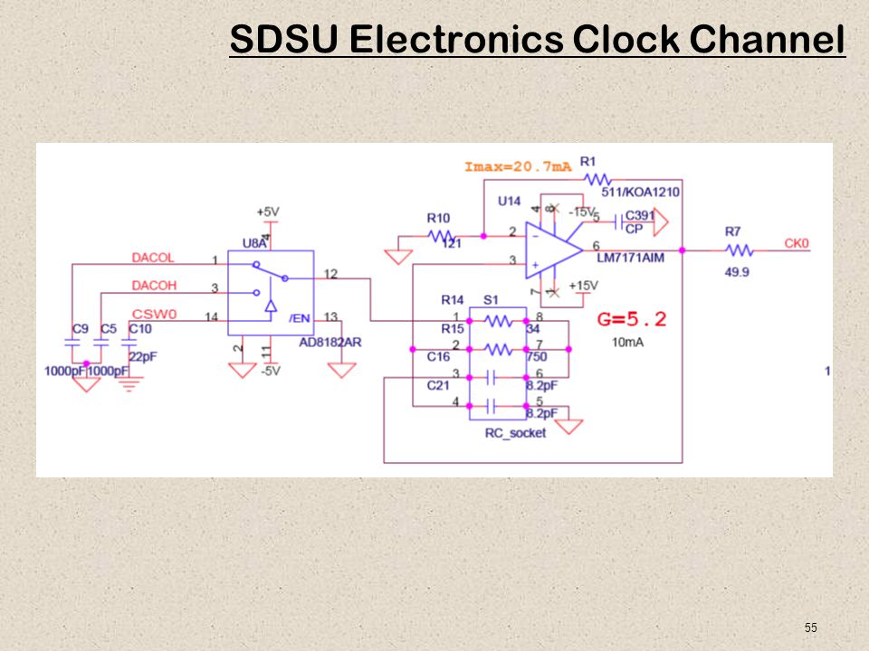 55 SDSU Electronics Clock Channel