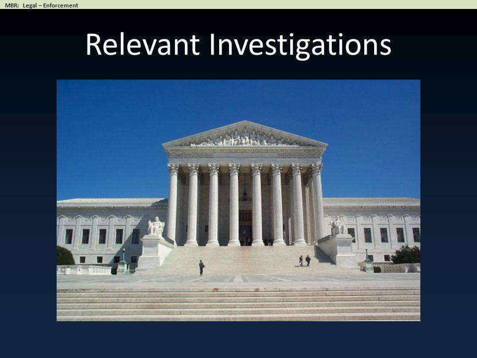 Relevant Investigations