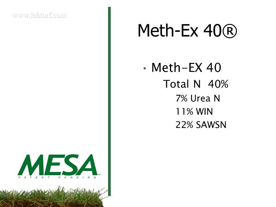 Meth-Ex 40® Meth-EX 40 Total N 40% 7% Urea N 11% WIN 22% SAWSN