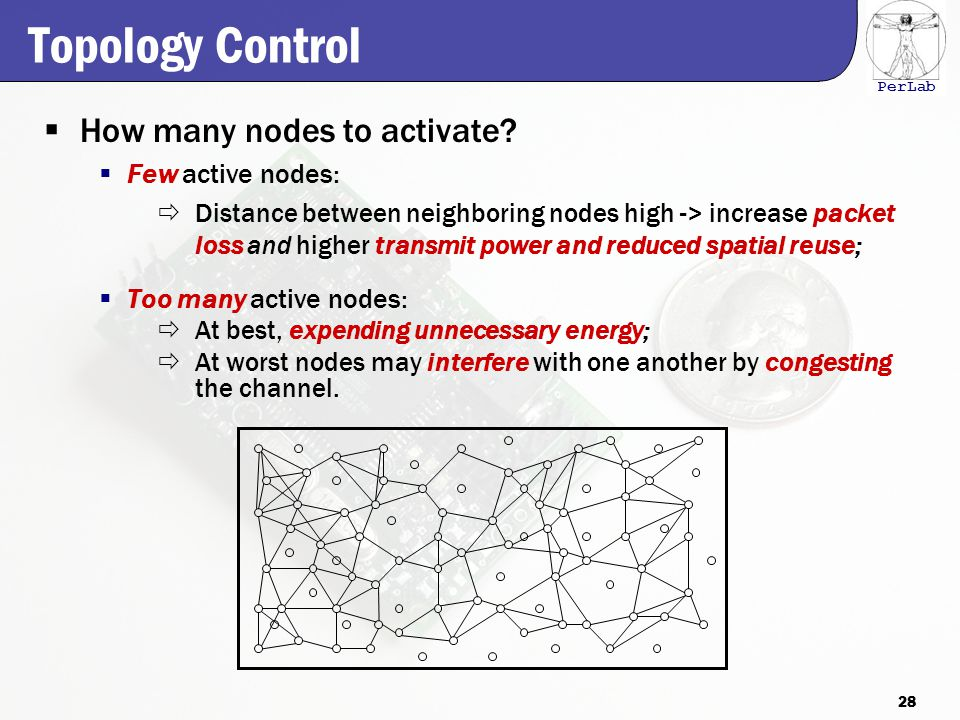 PerLab Topology Control  How many nodes to activate.