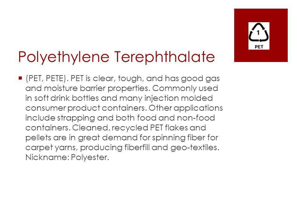 Low Density Polyethylene  Health Risks  Considered a safer plastic.
