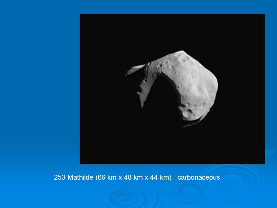 253 Mathilde (66 km x 48 km x 44 km) - carbonaceous