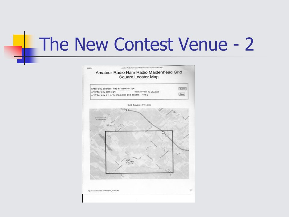 The New Contest Venue - 2