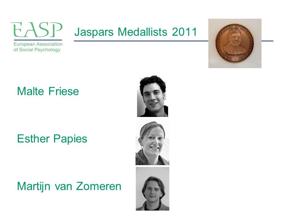 Jaspars Medallists 2011 Malte Friese Esther Papies Martijn van Zomeren
