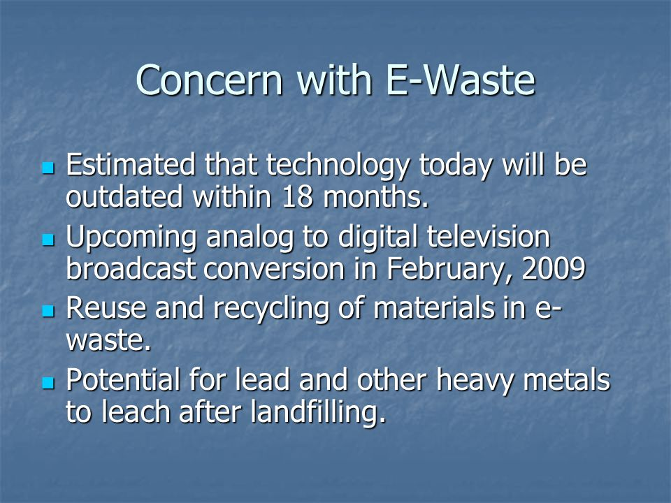 DEQ Responsibilities Develop list of registered manufacturers and covered electronic devices.