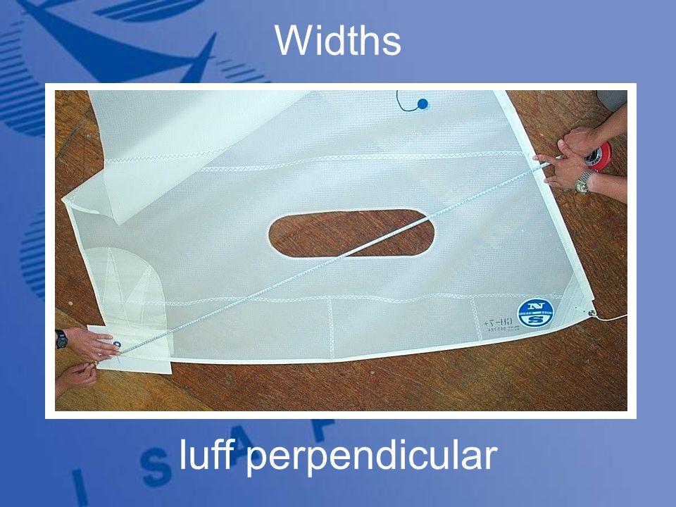Widths luff perpendicular